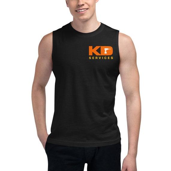 Custom Order Logo Bella Canvas Muscle Shirt, mens sleeveless shirt personalized business logo shirts