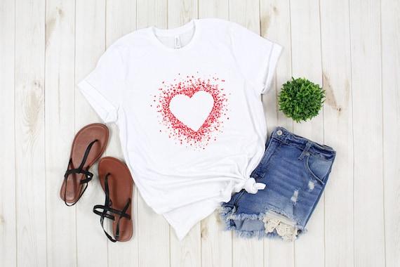 Valentine's Day tshirt, heart tshirt, cute Valentine's tshirt, love tshirt, Valentine's shirt, women's tshirt for Valentine's Day