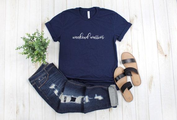 Weekend Warrior tshirt, womens tee, weekend tshirt, graphic tee, women's tee, women's shirt, gift for her, drinking shirt, brunch shirt