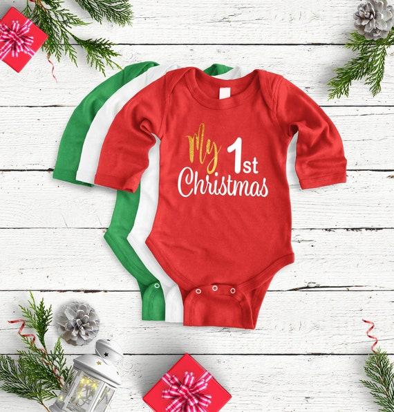 My 1st Christmas, Christmas shirt for baby, baby's first Christmas, 1st Christmas, First Christmas baby shirt