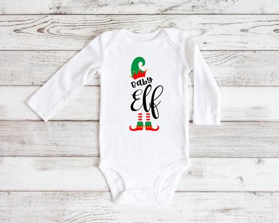 Baby Elf Christmas bodysuit, Baby Elf Christmas bodysuit, baby Christmas, My 1st Christmas baby shirt