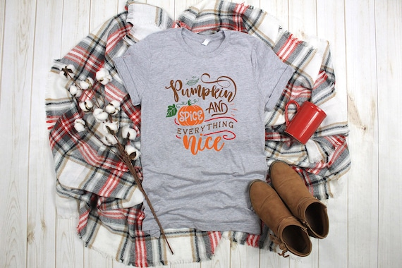 Pumpkin Spice and Everything Nice Tshirt, Fall tshirt, pumpkin tshirt, pumpkin tee, pumpkin shirt, womens tshirt, shirt for fall