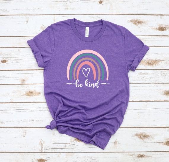 Be Kind Rainbow Shirt, Be Kind Shirt, Be Kind Tee, Rainbow Shirt, Kindness shirt, Rainbow t-Shirt, Cute tshirts for women