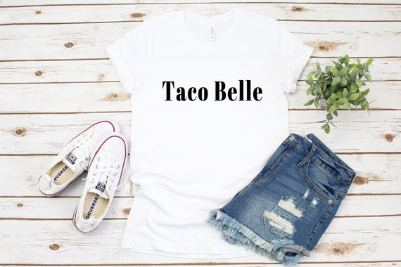 Taco Belle T-Shirt, womens tshirt, cute tshirt for women, funny tshirt, taco tshirt, graphic tee, womens tee
