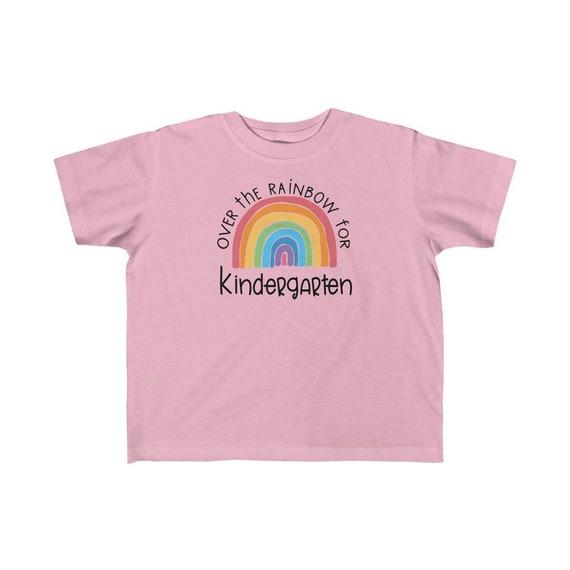 Kids tee Over the Rainbow for Kindergarten tshirt choose happy childrens clothing girls shirt boys top Kindergarten student t-shirt