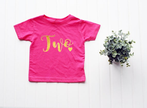 Toddler Birthday Two shirt, 2nd birthday shirt, girls birthday shirt, second birthday shirt, Girl's birthday shirt, second birthday