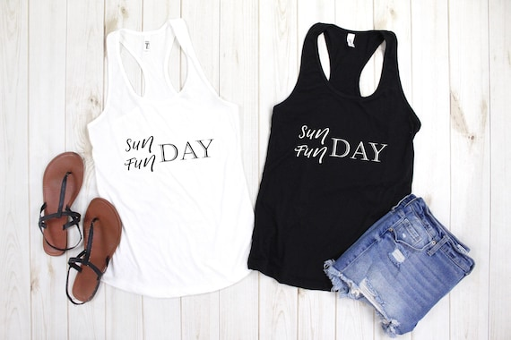 Sunday Funday tank top, drinking shirt, brunch shirt