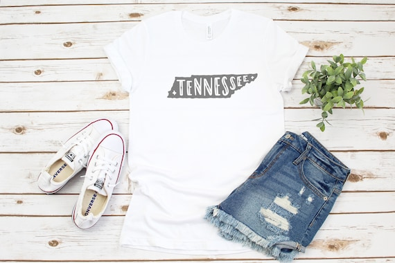 Tennessee tshirt, custom tshirt, TN fan, gift for her, graphic tees, printed tees, state of Tennessee