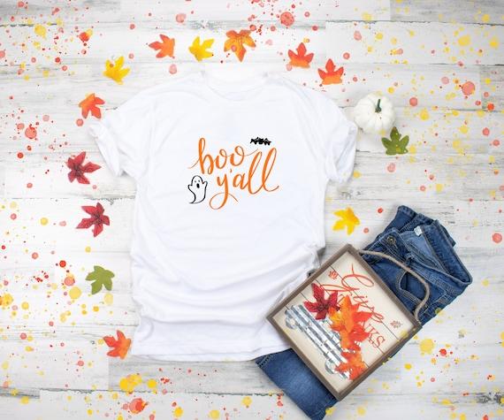 Boo yall Halloween tshirt, cute womens tshirt for halloween, womens halloween tee, halloween tee, costume shirt, teacher tshirt