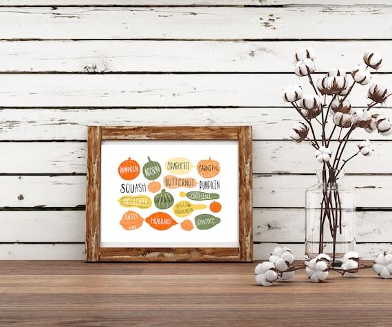 Pumpkin Printable Wall Art, Fall Decor, Digital Print, Neutral Wall Art, Boho Decor, Pumpkin print Instant download home decor