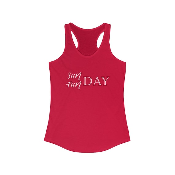 SUNDAY FUNDAY, Racerback Tank, womens tank top, Sunday shirt, day drinking shirt, weekend tank top