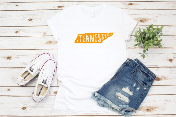 Tennessee tshirt, custom tshirt, TN fan, gift for her, graphic tees, printed tees, state of Tennessee Volunteer shirt