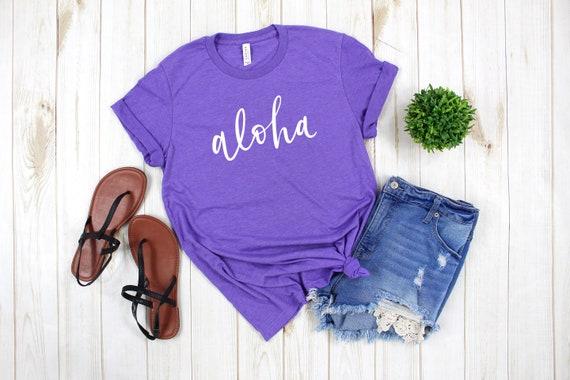 Aloha tshirt, womens tshirt, Aloha tee, beach shirt, vacation shirt, Hawaii shirt, summer tee, summer shirt, summer tshirt, aloha tshirt