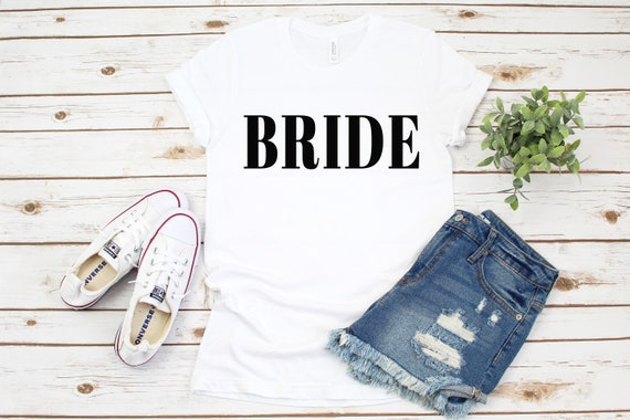 Bride and Bridal Party T-Shirts, bachelorette party tshirts, bachelorette party tees, bachelorette party shirts, bride shirt, bridal party