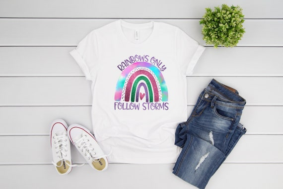Rainbow tshirt for women rainbows tee for mom, gift for her, rainbows choose happy tshirts for women