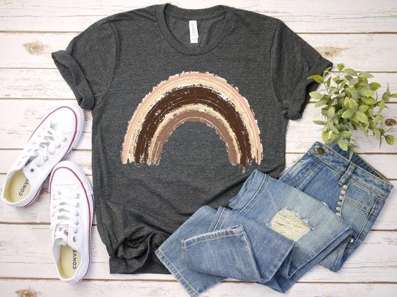 Rainbow tshirt for women rainbows tee for mom, gift for her, rainbows choose happy tshirts for women
