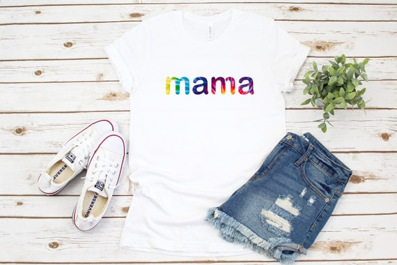 Mama tie dye t-shirt, women's adult unisex tshirt, gift for mom, new mom gift, cute mom shirt, graphic tees, tie dyed shirt