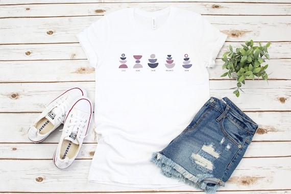 Yoga tshirt, workout shirt, womens yoga exercise tee, namaste meditate cute tshirt