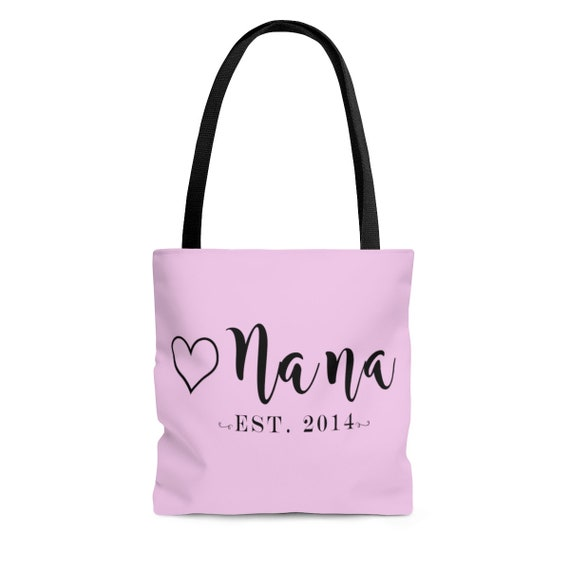 Est Date Tote Bag for Grandma Mimi tote bag Nana tote bag, tote bag for new Grandma, tote bag for new Mimi, tote bag for new Nana
