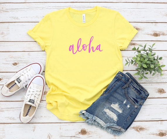 Aloha T-Shirt, Hawaii women's tshirt, vacation tshirt, summer tee, women's tshirts
