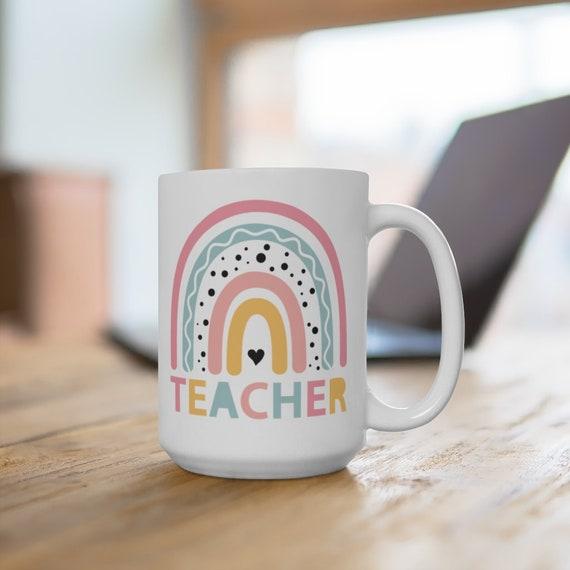 Teachers Life Rainbow Teaching, Kindergarten Teacher mug, Quarantine Teacher coffee cup, Teacher Gift Ideas, Teacher Gift, Teaching mug