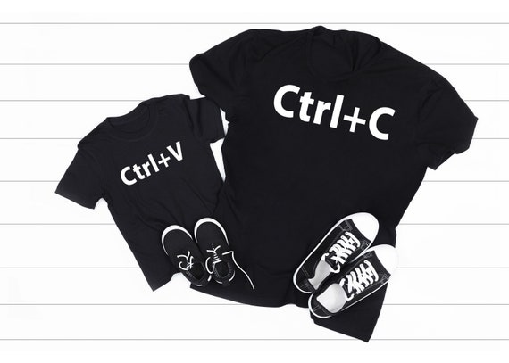 Daddy And Me Outfit, Copy and Paste, Ctrl C, Ctrl V Dad & Me Matching Shirts, Dad Gift Father's Day Gift
