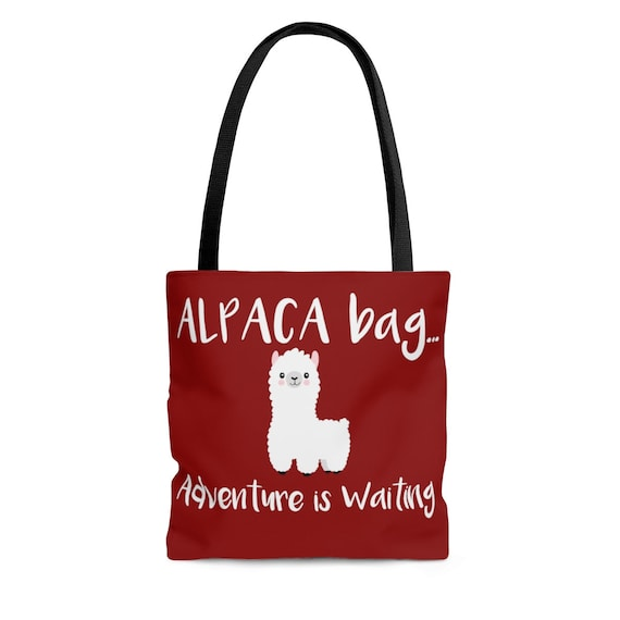 Alpaca Bag Adventure is Waiting Tote Bag, alpaca tote bag, cute tote bag, tote bag, womens bag, womens tote