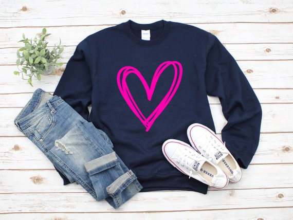 Valentine's Day crewneck sweatshirt, cute Valentine's sweater, leopard print sweatshirt, women's sweatshirt, Valentine's Day shirt