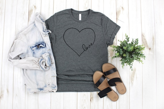 Love Heart tshirt, womens tshirt, womens graphic tees, love tshirt, heart tee, heart tshirt, womens tees, womens clothing, love heart tee