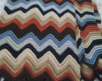 Zig Zag Crochet Etsy