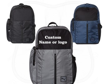 8d995a0a0c73 Custom Backpack personalized Backpack Puma Backpack Customized backpack  Custom School bag Custom rucksack Puma backpack Puma logo backpack