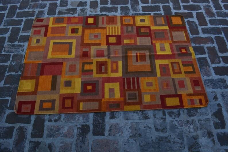in feet 6.x 4 Vintage HandMade Kilim  Size is