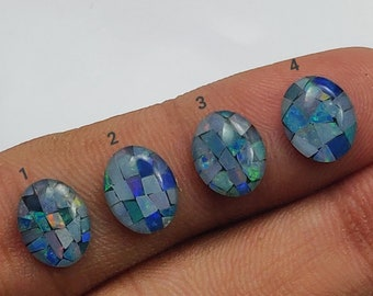 Mosaic Opal Precious Opal Crystal Australian Opal Triplet Natural Gemstones Loose Cabochons Jewelry Making Supply # 157