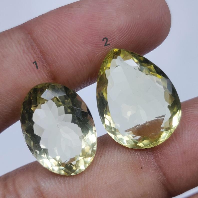 Lemon Topaz Rosecut Natural Semi Precious Gemstone