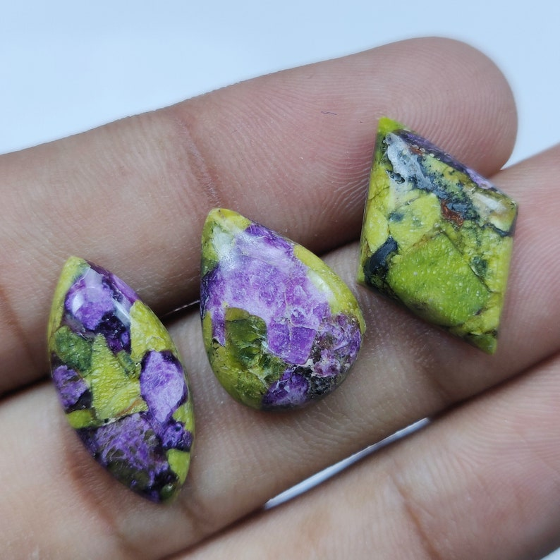 Atlantasite Natural Cabochon Semi Precious Loose Jewelry Making Gemstone