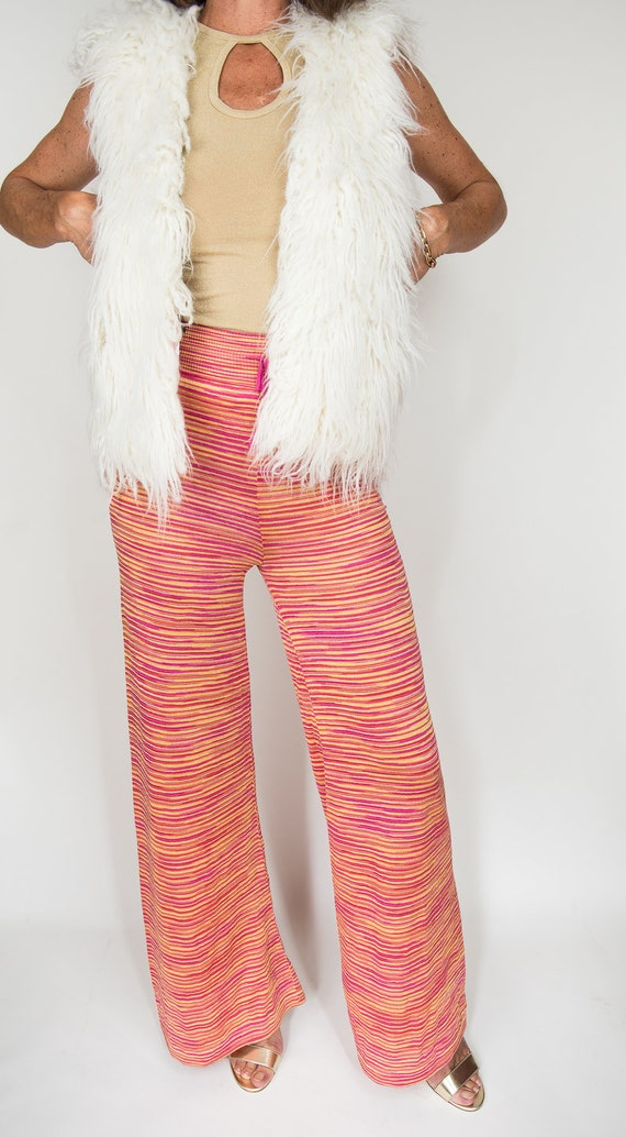 Missoni knit pants highwaist, low-waisted knit pan