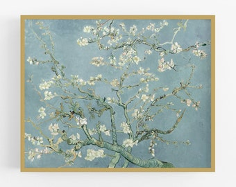 Vincent Van Gogh Branches with Almond Blossom Giclee Wall Art Poster Print