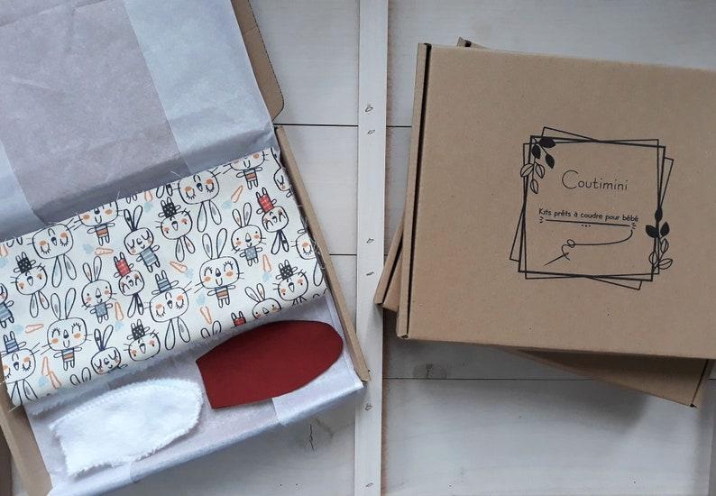 Kit couture baby soft rabbit fabrics oeko tex