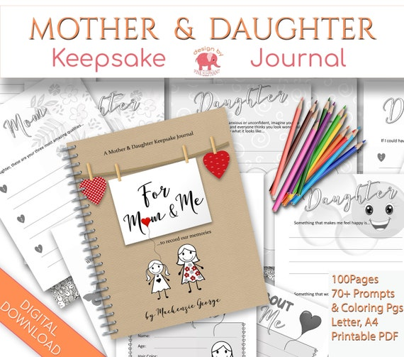 Mother and Daughter Writing Journal Mom from Daughter