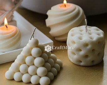 Irregular pillar candle silicone mold-8 styles creative silicone candle mold-Scented candle-Ball candle mold