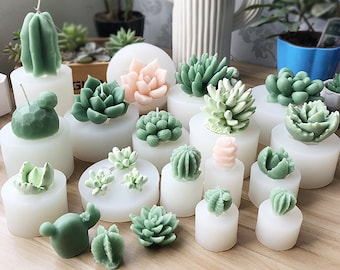 Succulent Mold - Plant Silicone Fondant Mold - 3D Succulent Candle - 3D Succulent Plant Mold - Succulent Fondant Mold - Chocolate Mold