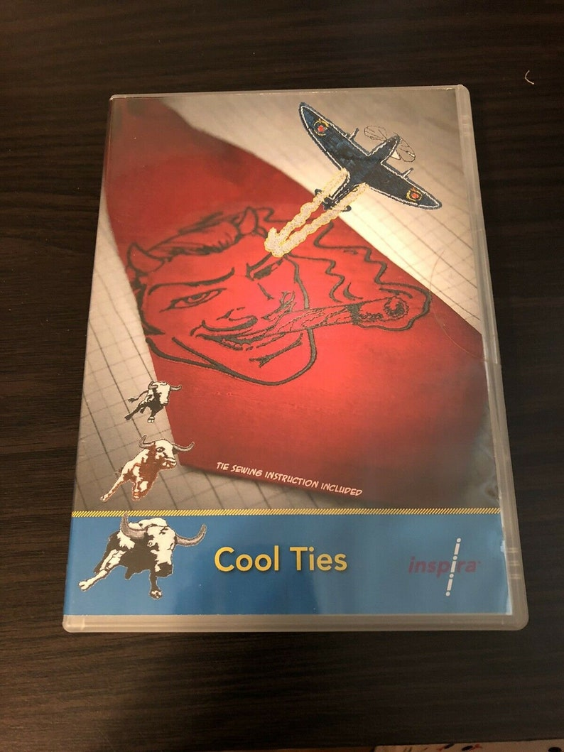 Cool Ties Machine Embroidery by Inspira