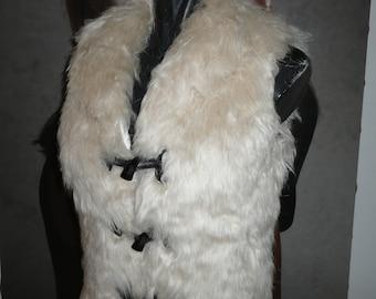 Women/'s Faux Rex Rabbit Fur Vest w Pockets Grey Super Soft Plush Fake Fur Comfy Cozy Winter Accessory Luxury Vegan Fashion Statement