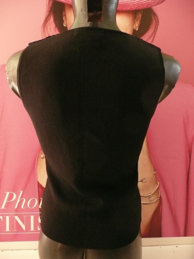 black teeembroidery Floral topdesigner tankbohemian sleeveless topfashion fitted topoffice-secretary topsize P-S. Vintage WENDY B