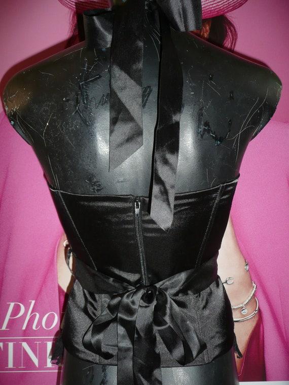 Black Corset blouse EVITA/Steampunk Corset blouse… - image 6