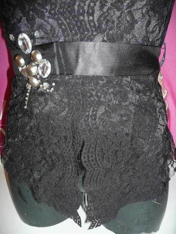 Black Corset blouse EVITA/Steampunk Corset blouse… - image 3