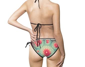 953b02726a34b Floral two piece Women's Bikini Swimsuit