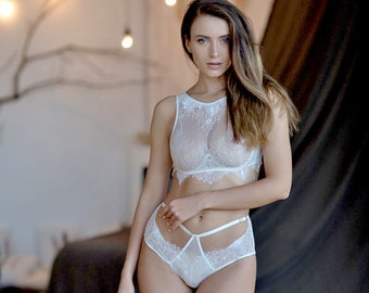 1b3d43d658 White Lace Bra Set • Sexy Bridal Lingerie