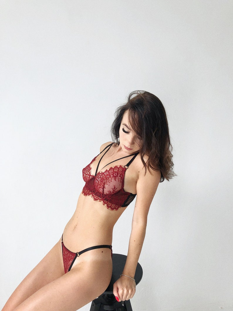 Kendall karson makes love in the afternoon in red lingerie