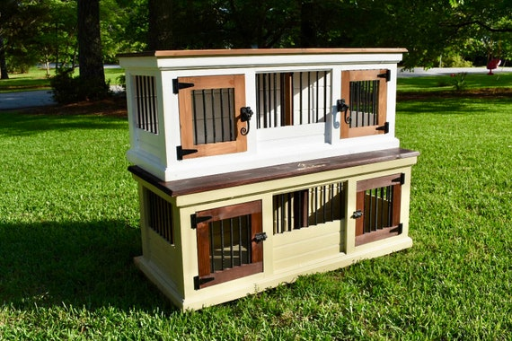 Peachy Double Small Dog Crate Bench Dog Crate Furniture Dog Crate Wood Dog Crate Design Dog Crate Modern Dog Crate Barn Door Unique Dog Gift Frankydiablos Diy Chair Ideas Frankydiabloscom